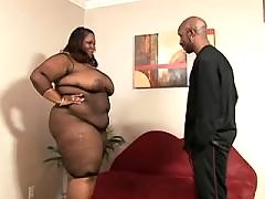 Adorable plump ebony gets screwed