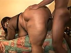 Steamy black bbw gets plugged hard